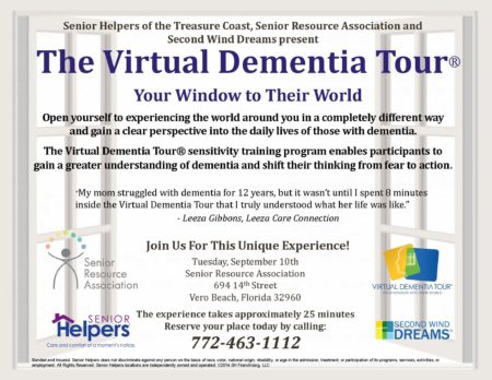 Senior Helpers- Virtual Dementia Tour @ Senior Resource Association